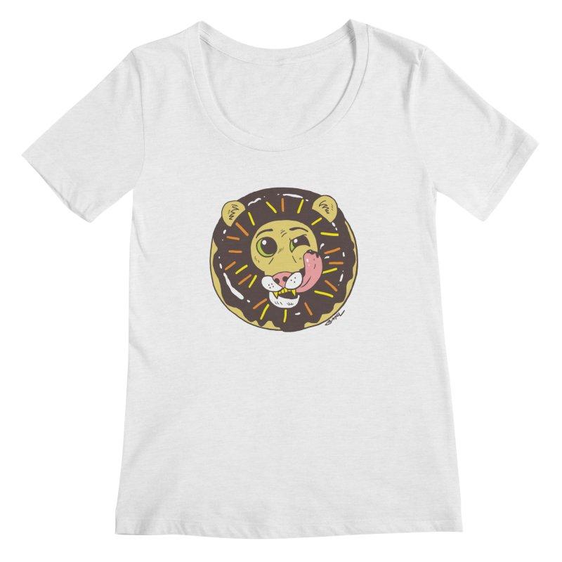 Donut Lion Women's Regular Scoop Neck by brianmcl's Artist Shop