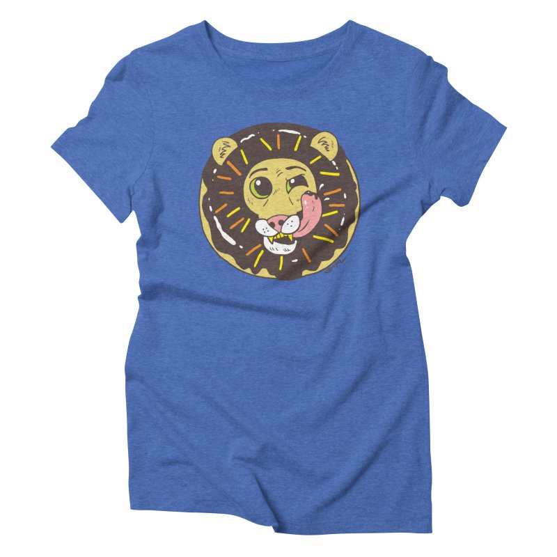Donut Lion Women's Triblend T-Shirt by brianmcl's Artist Shop
