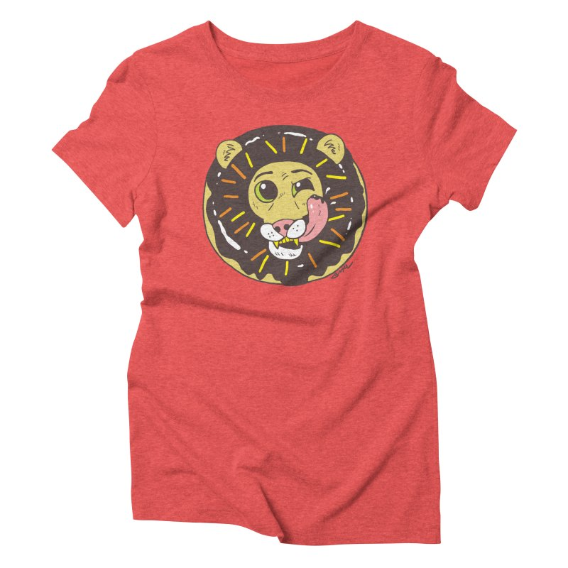 Donut Lion Women's Triblend T-Shirt by brianmcl's Artist Shop