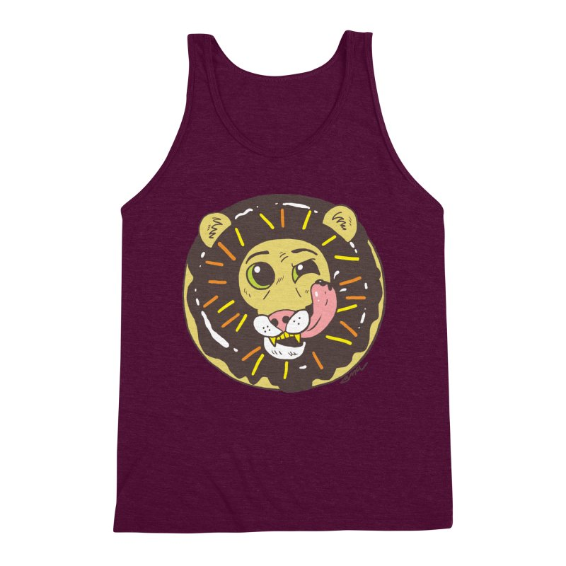 Donut Lion Men's Triblend Tank by brianmcl's Artist Shop