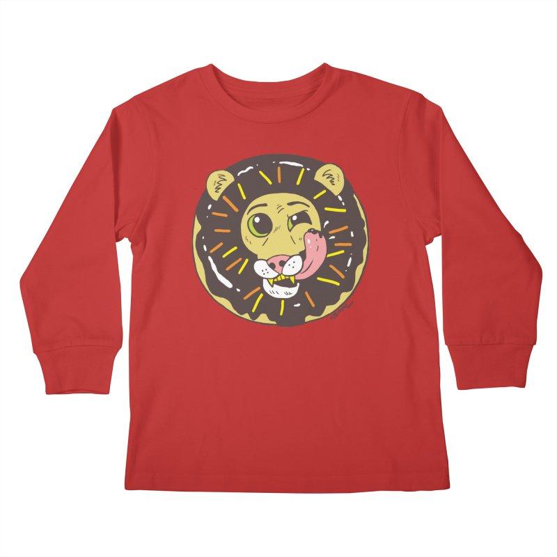 Donut Lion Kids Longsleeve T-Shirt by brianmcl's Artist Shop