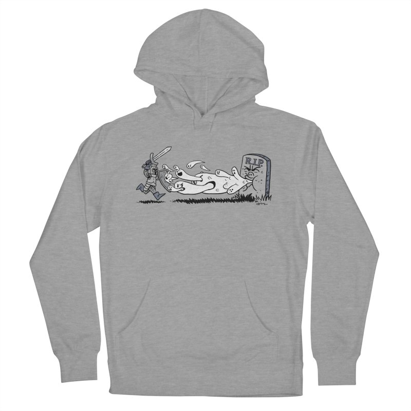 Graveyard Barf Men's French Terry Pullover Hoody by brianmcl's Artist Shop