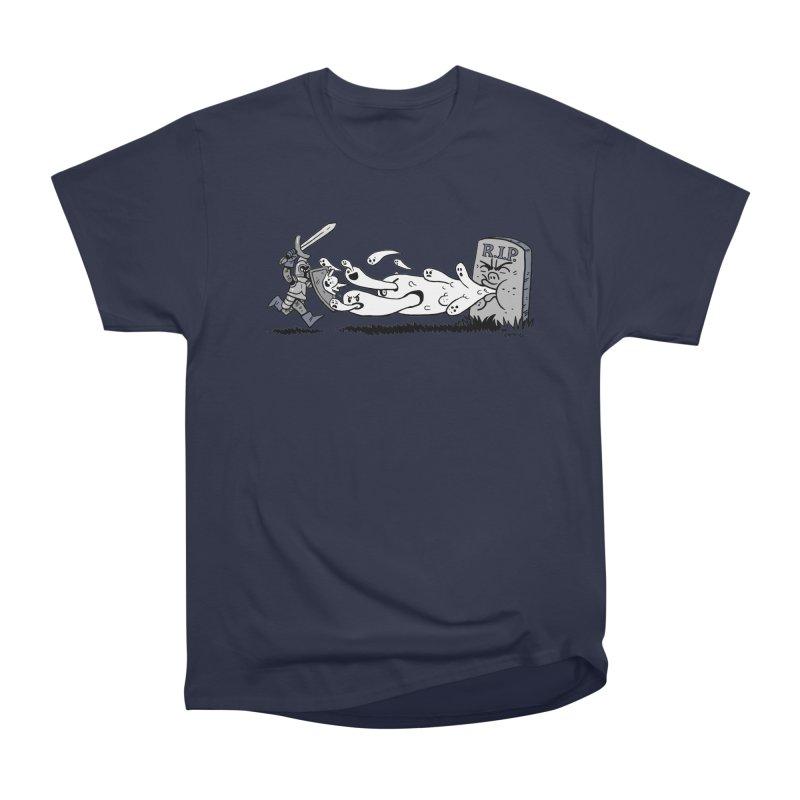 Graveyard Barf Men's Heavyweight T-Shirt by brianmcl's Artist Shop