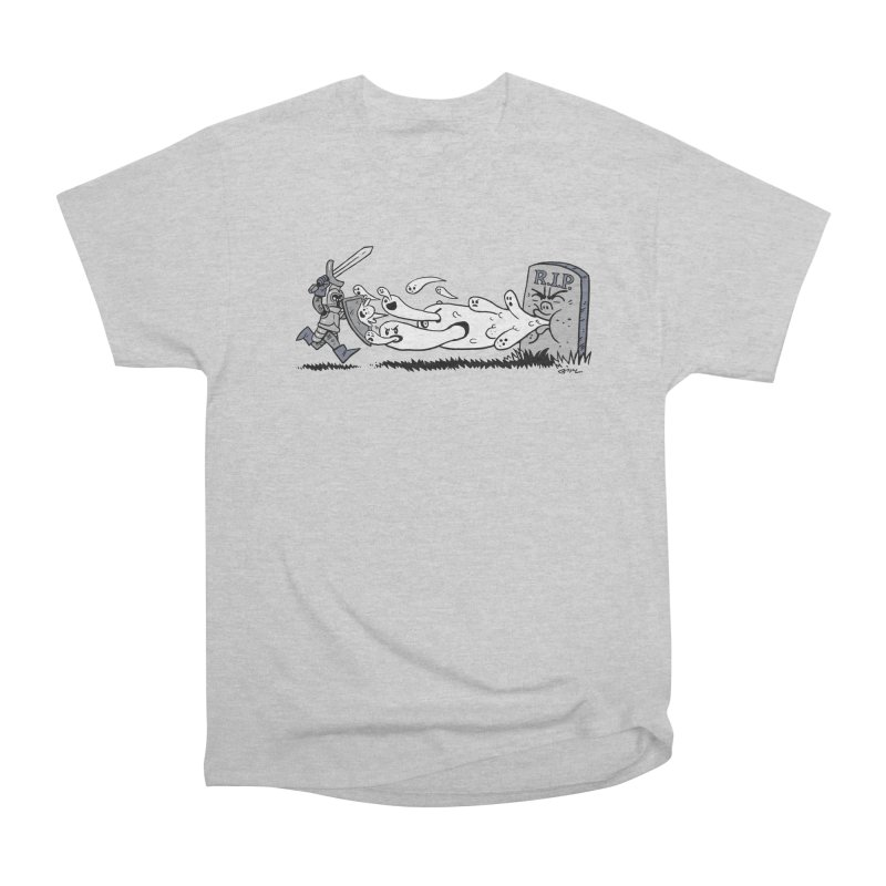 Graveyard Barf Men's Heavyweight T-Shirt by brianmcl's Artist Shop