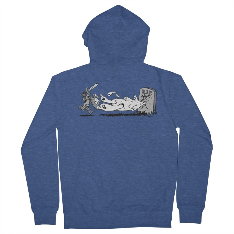 Graveyard Barf Women's French Terry Zip-Up Hoody by brianmcl's Artist Shop