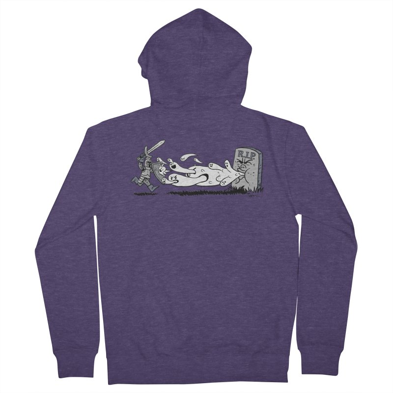 Graveyard Barf Men's French Terry Zip-Up Hoody by brianmcl's Artist Shop