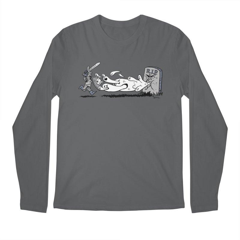Graveyard Barf Men's Regular Longsleeve T-Shirt by brianmcl's Artist Shop