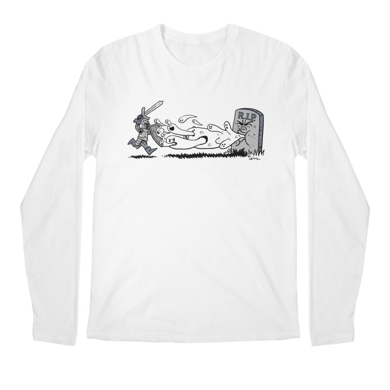 Graveyard Barf Men's Regular Longsleeve T-Shirt by brianmcl's Artist Shop