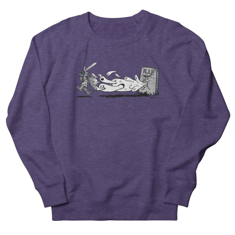 Graveyard Barf Men's French Terry Sweatshirt by brianmcl's Artist Shop