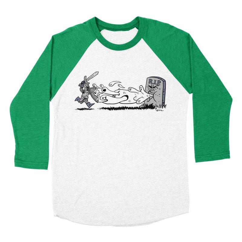 Graveyard Barf Men's Baseball Triblend Longsleeve T-Shirt by brianmcl's Artist Shop