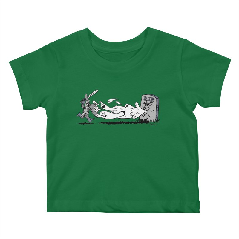 Graveyard Barf Kids Baby T-Shirt by brianmcl's Artist Shop