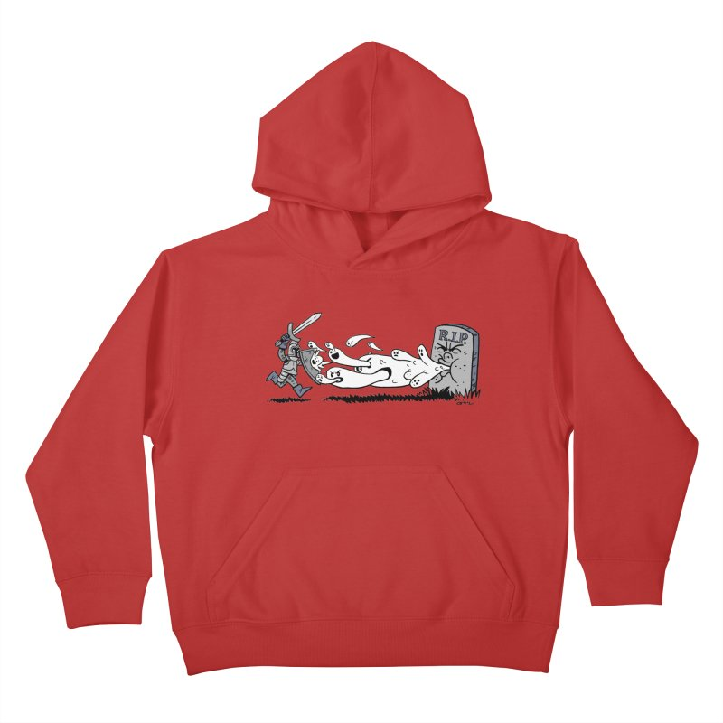 Graveyard Barf Kids Pullover Hoody by brianmcl's Artist Shop