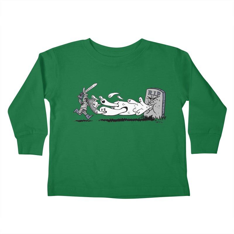 Graveyard Barf Kids Toddler Longsleeve T-Shirt by brianmcl's Artist Shop