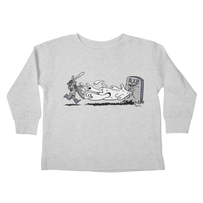 Graveyard Barf Kids Toddler Longsleeve T-Shirt by brianmcl's Artist Shop