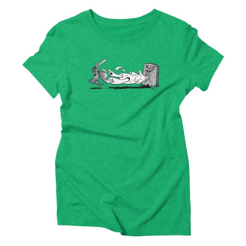 Graveyard Barf Women's Triblend T-Shirt by brianmcl's Artist Shop