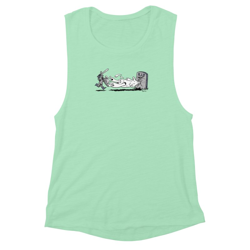 Graveyard Barf Women's Muscle Tank by brianmcl's Artist Shop