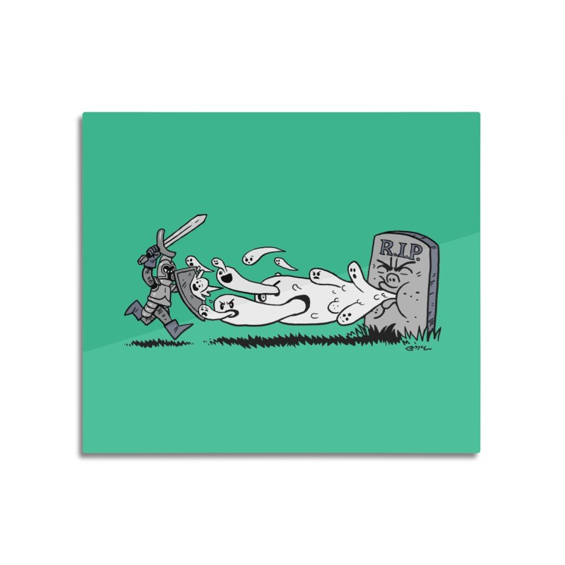 Graveyard Barf Home Mounted Aluminum Print by brianmcl's Artist Shop