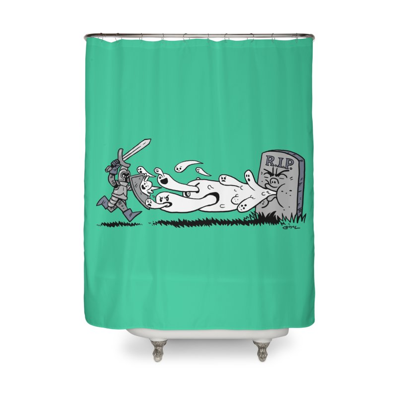 Graveyard Barf Home Shower Curtain by brianmcl's Artist Shop