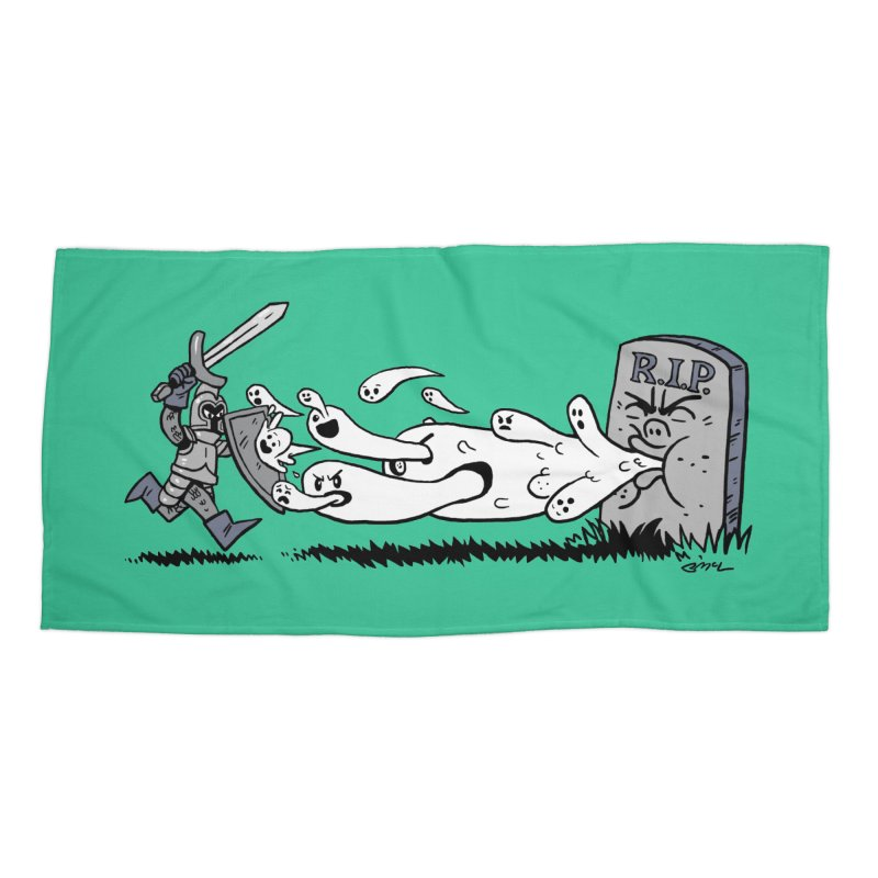 Graveyard Barf Accessories Beach Towel by brianmcl's Artist Shop