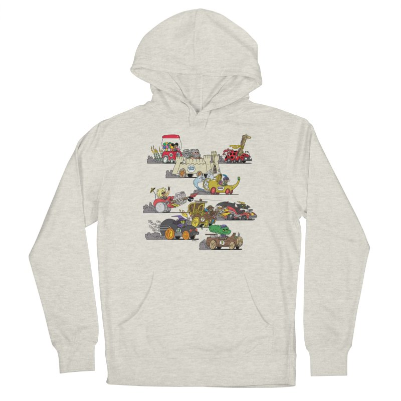 Wild Racers Women's French Terry Pullover Hoody by brianmcl's Artist Shop