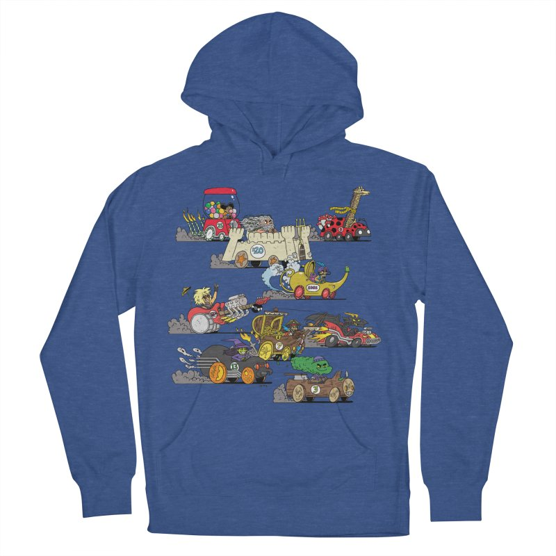 Wild Racers Men's French Terry Pullover Hoody by brianmcl's Artist Shop