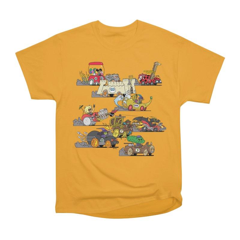 Wild Racers Men's Heavyweight T-Shirt by brianmcl's Artist Shop
