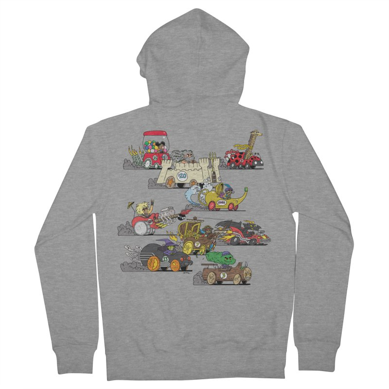 Wild Racers Women's French Terry Zip-Up Hoody by brianmcl's Artist Shop