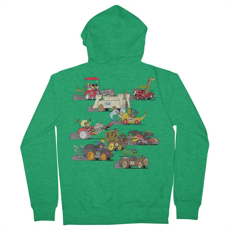 Wild Racers Men's Zip-Up Hoody by brianmcl's Artist Shop