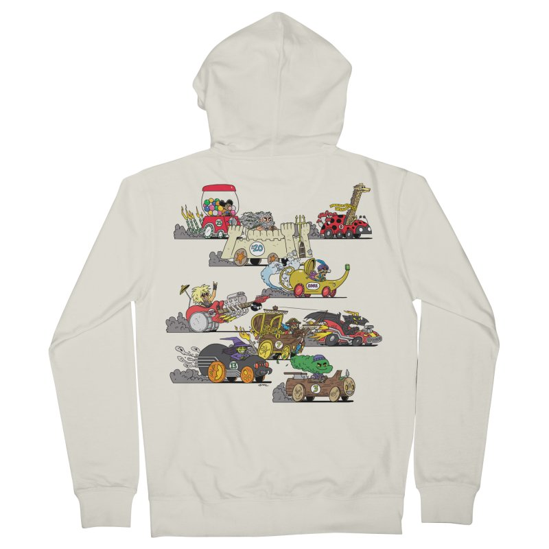 Wild Racers Men's French Terry Zip-Up Hoody by brianmcl's Artist Shop