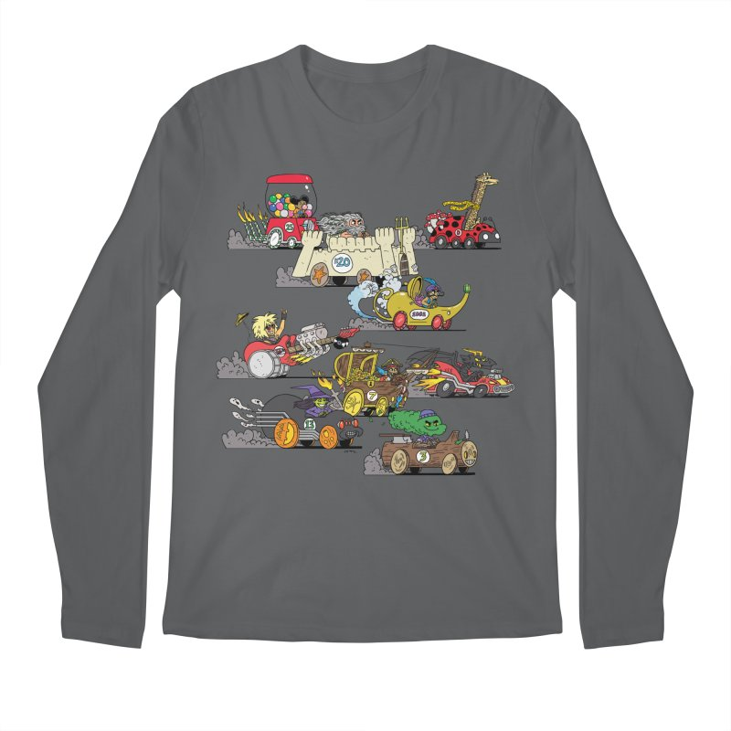 Wild Racers Men's Longsleeve T-Shirt by brianmcl's Artist Shop