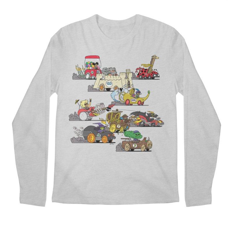 Wild Racers Men's Regular Longsleeve T-Shirt by brianmcl's Artist Shop