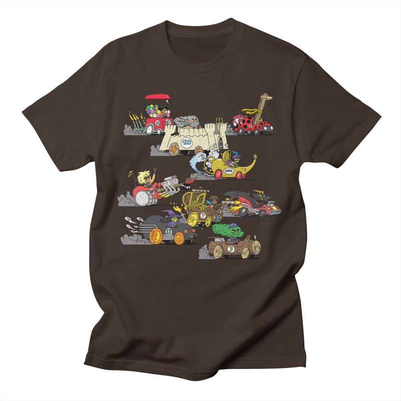 Wild Racers Men's T-Shirt by brianmcl's Artist Shop