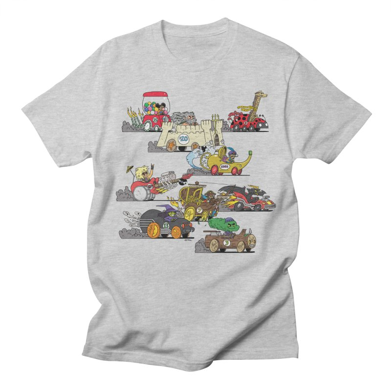 Wild Racers Men's Regular T-Shirt by brianmcl's Artist Shop