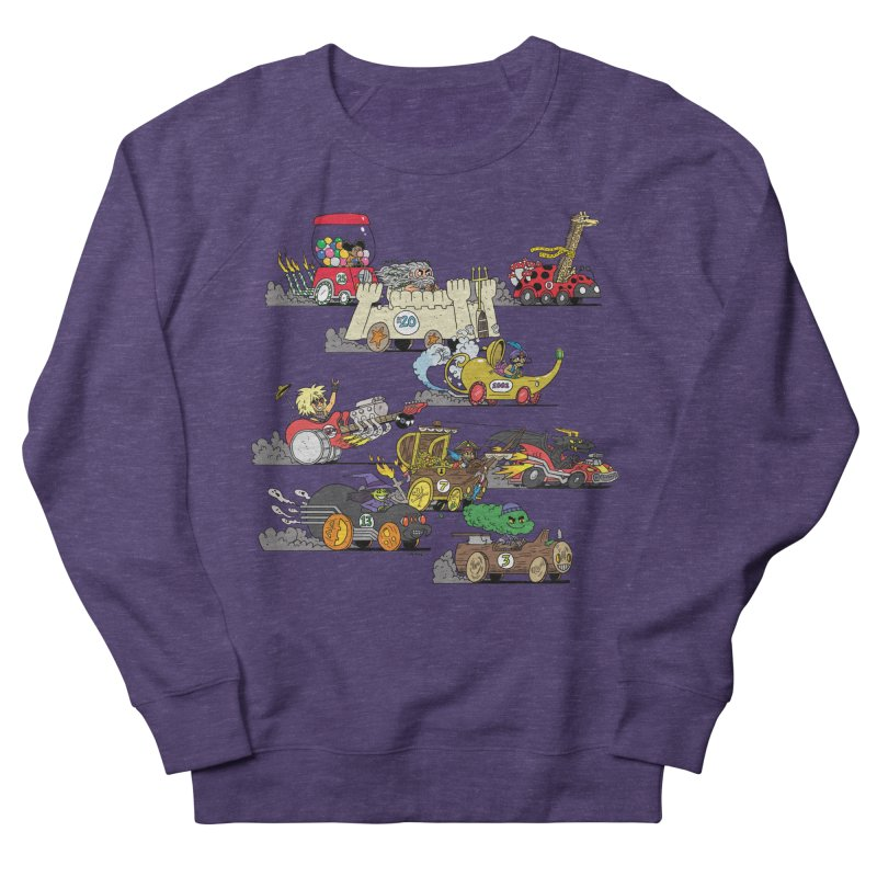 Wild Racers Men's French Terry Sweatshirt by brianmcl's Artist Shop