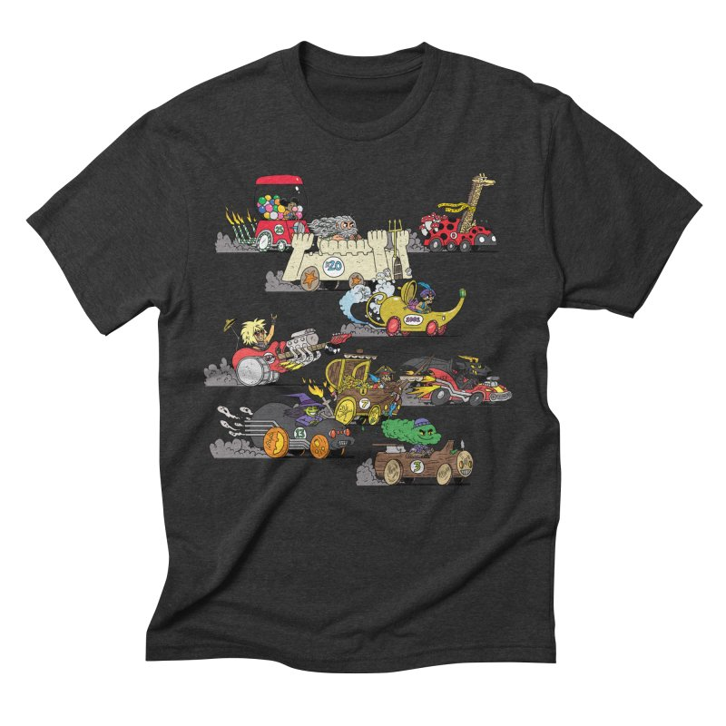 Wild Racers Men's Triblend T-Shirt by brianmcl's Artist Shop