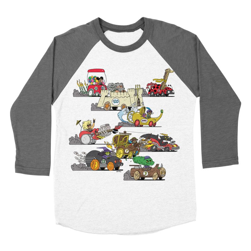 Wild Racers Women's Longsleeve T-Shirt by brianmcl's Artist Shop