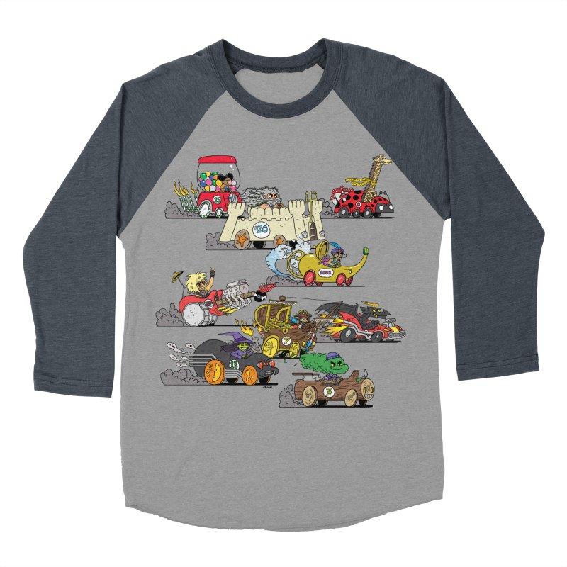 Wild Racers Women's Baseball Triblend Longsleeve T-Shirt by brianmcl's Artist Shop