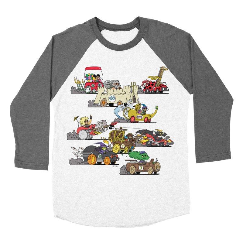 Wild Racers Men's Baseball Triblend Longsleeve T-Shirt by brianmcl's Artist Shop