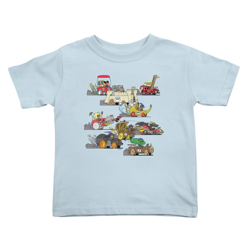 Wild Racers Kids Toddler T-Shirt by brianmcl's Artist Shop