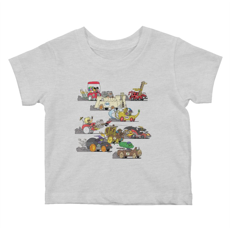 Wild Racers Kids Baby T-Shirt by brianmcl's Artist Shop