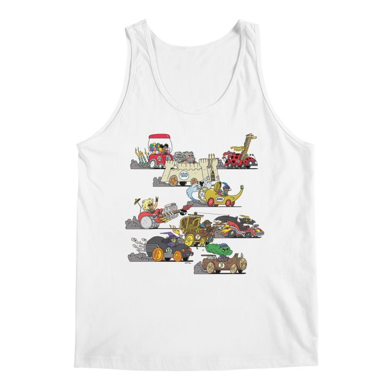 Wild Racers Men's Tank by brianmcl's Artist Shop