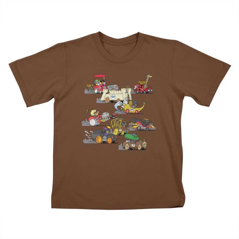 Wild Racers Kids T-Shirt by brianmcl's Artist Shop