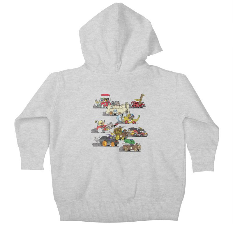 Wild Racers Kids Baby Zip-Up Hoody by brianmcl's Artist Shop