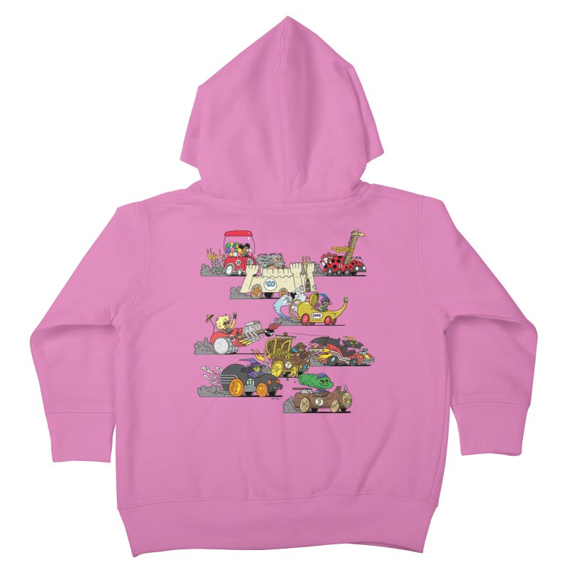 Wild Racers Kids Toddler Zip-Up Hoody by brianmcl's Artist Shop