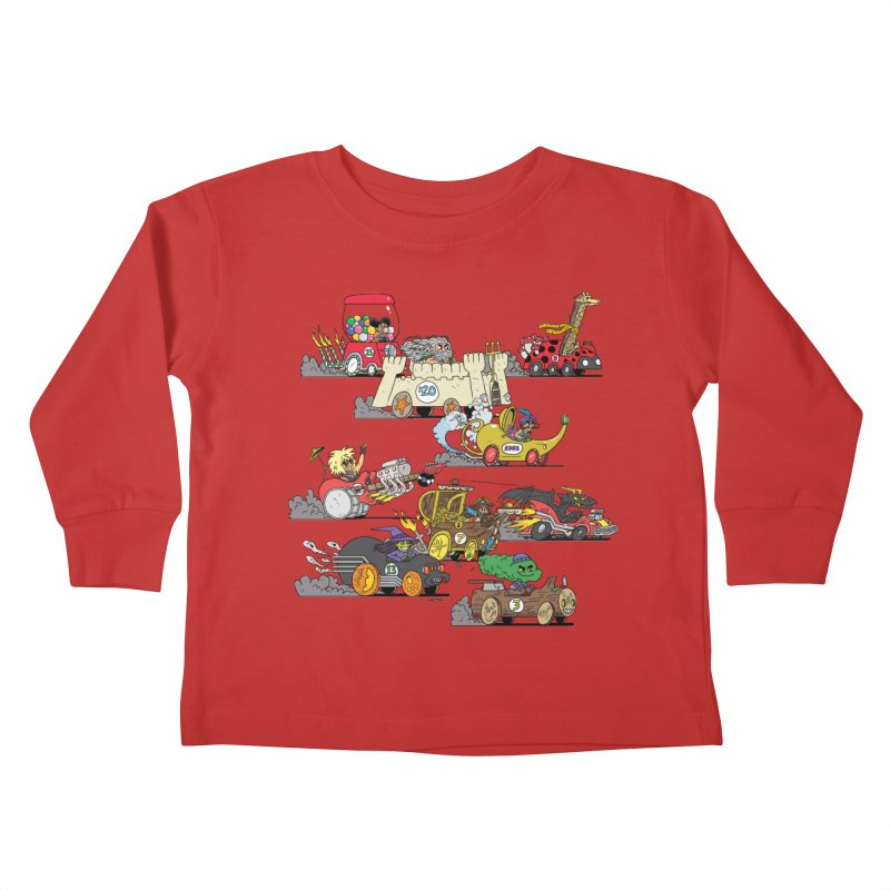 Wild Racers Kids Toddler Longsleeve T-Shirt by brianmcl's Artist Shop