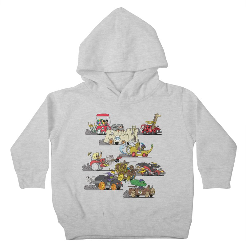 Wild Racers Kids Toddler Pullover Hoody by brianmcl's Artist Shop