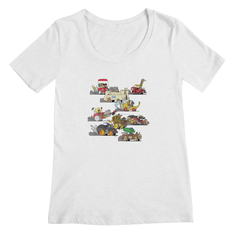 Wild Racers Women's Scoop Neck by brianmcl's Artist Shop