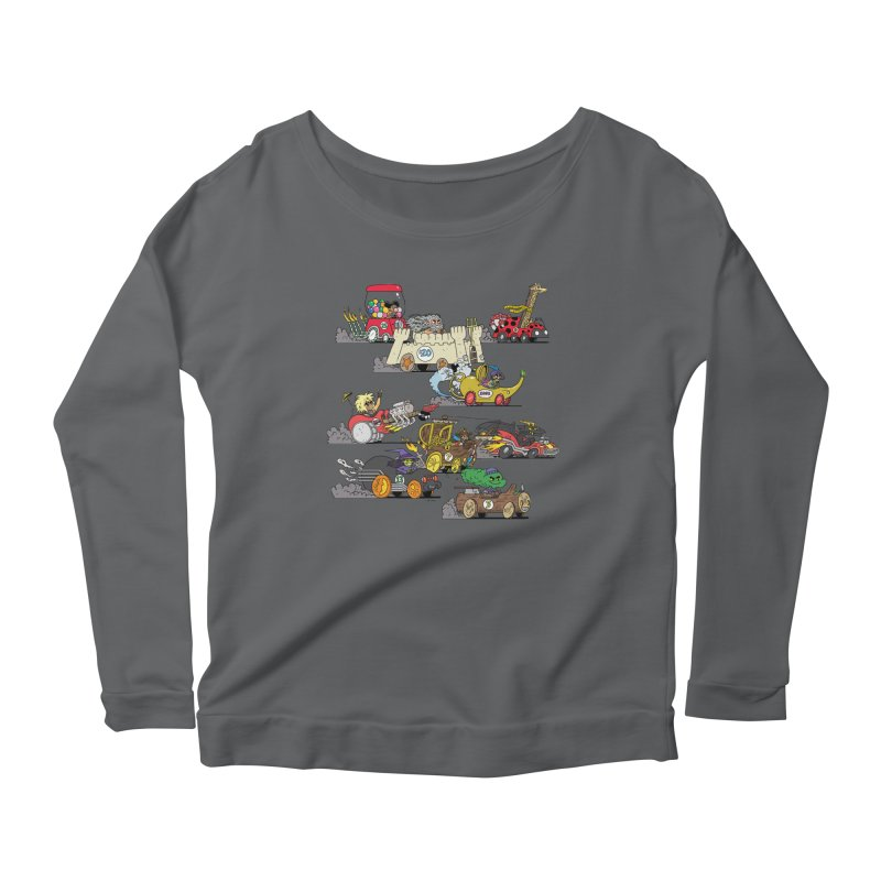 Wild Racers Women's Scoop Neck Longsleeve T-Shirt by brianmcl's Artist Shop