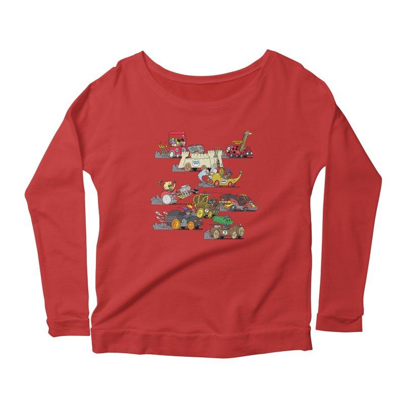 Wild Racers Women's Scoop Neck Longsleeve T-Shirt by brianmcl's Artist Shop