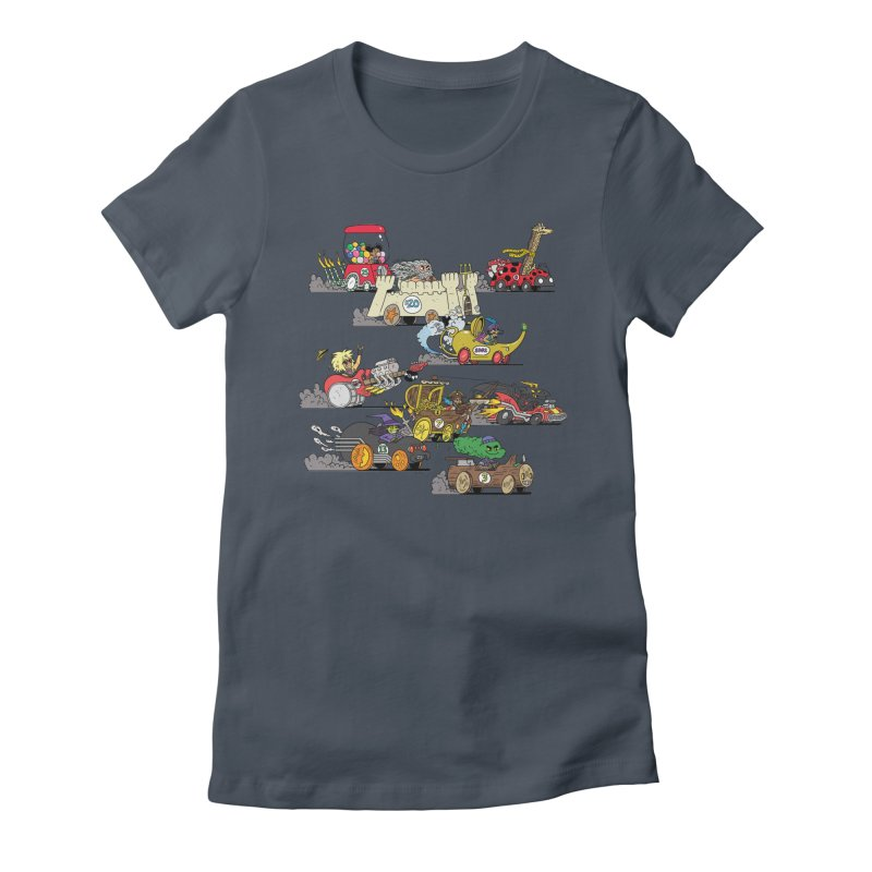 Wild Racers Women's T-Shirt by brianmcl's Artist Shop